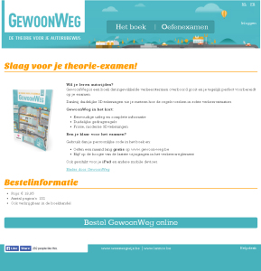 website GewoonWeg: de theorie voor je autorijbewijs